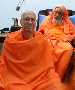 2015 - Swami Advayatmananda after initiation into saṃnyāsa by Pujya Swami Dayananda
