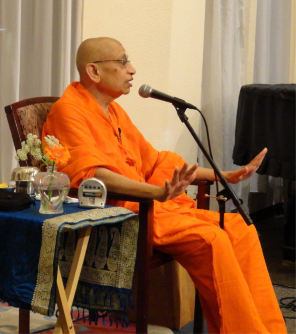 "Swami Viditatmananda speaking on ""Freedom From Sadness"" at the San Diego Unitarian Universalist Church"