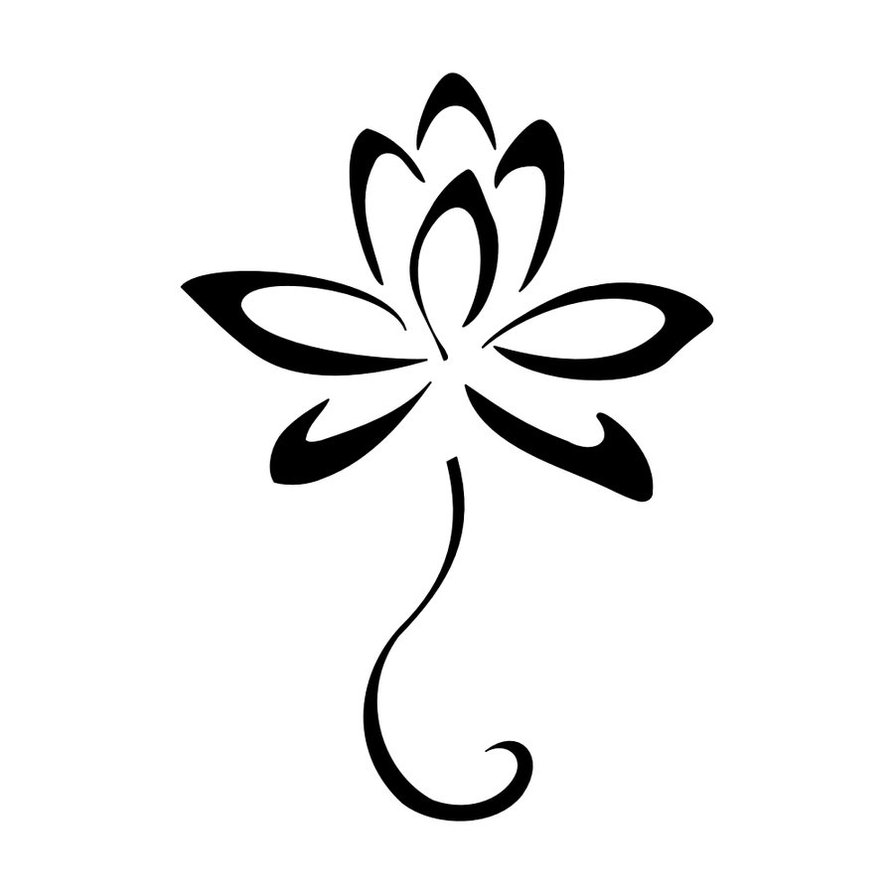 Simple Lotus Flower Tattoo Designs 4 Arsha Drishti